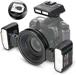 Flash annulaire double Meike MK-MT24 pour Appareil photo Nikon