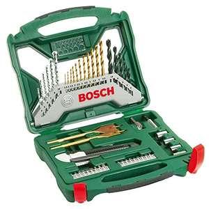 Ensemble de forets et de tournevis en titane Bosch X-Line - 50pièces (bois, pierre et métal, accessoires pour perceuses)