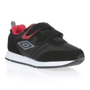 Chaussures pour enfant Umbro Jaffy VLC - noir/rouge (du 30 au 35)