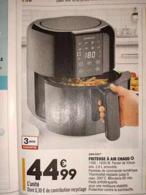Friteuse sans huile Ambiano - 2.6 Litres