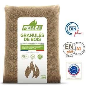 Sac de granulés de bois Pellex DIN Plus (15 kg) - Tarare (69)