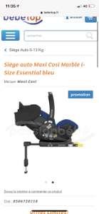 Siège Auto Maxi Cosi Marble i-Size Essential - Gris