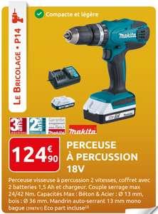 Perceuse à percussion Makita 18V avec batterie et chargeur - RuralMaster.fr