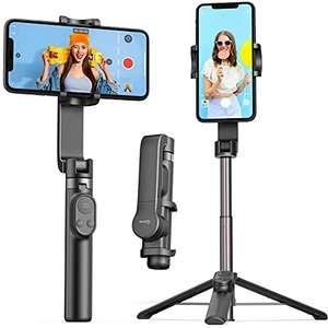 Stabilisateur Smartphone QIMIC - Bluetooth, Perche à Selfie avec Trépied, Batterie 920 mAh pour IOS et Androïd (Vendeur Tiers)