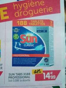 Boite de 188 Tablettes lave vaisselle Sun classic