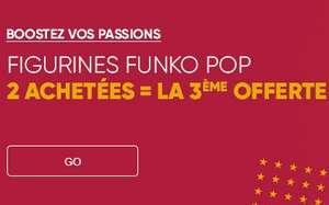 2 figurines Funko Pop achetés = le 3ème offert (sur une sélection)