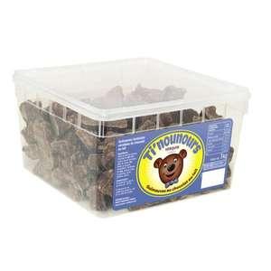 Boîte de Chocolat Guimauves Ti'Nounours - 1kg, Chocolat blanc lait ou noir