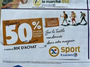 50% remboursés en bon d'achat dès 80€ d'achat sur le textile Randonnée - Erstein (67)
