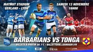 [Membres Famille 2023] Place en Catégorie OR pour le match de Rugby Barbarians contre Le Tonga - Lyon (69)