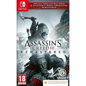 Assassin's Creed 3 + Assassin's Creed Liberation Remaster sur Nintendo Switch (Code dans la boite)