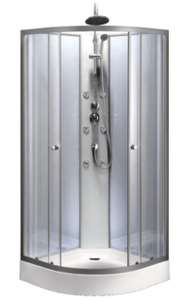 """Cabine de douche Hydromassante """"Grey & Silver"""" - 85x85 cm"""