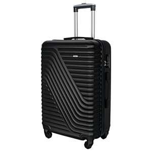 Valise Trolley en ABS série A082 - 47 cm, 4 Roues Multidirectionnelles & Poignée Télescopique (Coloris noir ou gris clair )