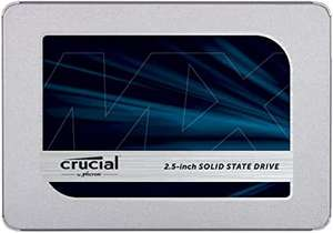 """SSD interne 2.5"""" Crucial MX500 - 2 To, DRAM, TLC 3D NAND (Frontaliers Suisse)"""