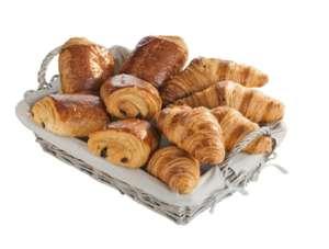 Assortiment de 10 viennoiseries: 5 croissants et 5 pains au chocolat pur beurre (cuits sur place) - 500 g