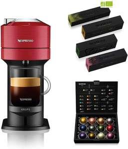 Cafetière à capsules Krups Nespresso Vertuo Next YY4800FD (Rouge ou Noir) + 52 capsules