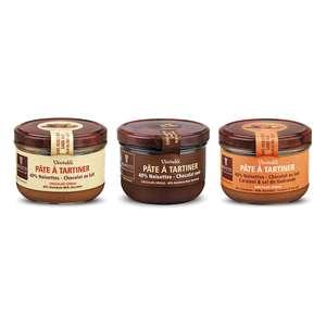Promotion sur une sélection d'articles Bovetti (Tablettes, pâtes à tartiner et chocolats) - Ex: Assortiment de 3 pâtes à tartiner