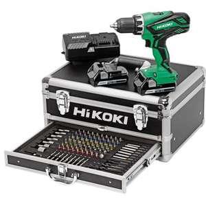 Perceuse visseuse Hikoki KC18DJLFZ - 18V 2x2.5Ah et coffret de 100 accessoires