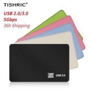 """Boîtier pour disque dur externe 2.5"""" Tishric Tisanctuic - USB 3.0, différents coloris"""