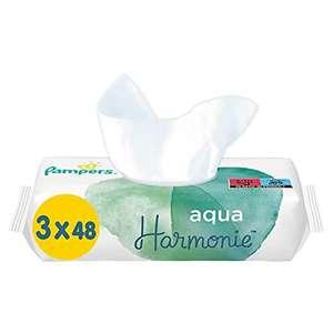 Lot de 6 paquets de 144 lingettes pour bébé Pampers Aqua Harmonie - 6x144