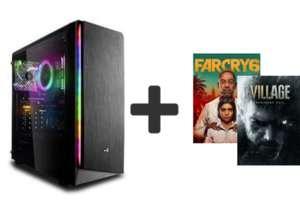 PC Gamer Fixe - Ryzen 5 3600, B450M Pro, 16Go RAM, RX 6600XT, SSD NVMe 500Go, Alim 500W 80+ Gold, Windows 10 Pro + 2 jeux