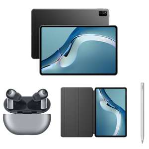 "Tablette 12.6"" Huawei MatePad Pro (OLED 2.5K, Kirin 9000E, RAM 8Go, 256Go, WiFi 6+, Sans Google) + Écouteurs FreeBuds Pro + Étui + M-Pencil"