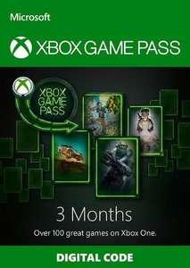 Abonnement de 3 mois au Xbox Game Pass (Dématérialisé - Région Turquie)
