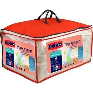Couette Dodo 4 Saisons (220 x 240 cm) : 1 Couette Légère 200g/m² + 1 Couette Tempérée 300g/m² = 1 Couette Chaude 500g/m² (100% polyester)