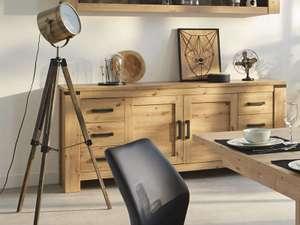 Lampe trépied projecteur style vintage - Hauteur réglable 152 cm max, Coloris Marron/Bronze, Douille E27 (ampoule non fournie)