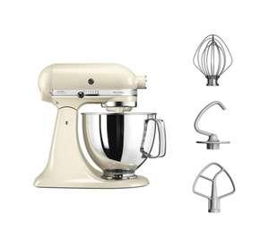 Robot pâtissier Kitchenaid Artisan 5KSM125EAC - 300W, Crème
