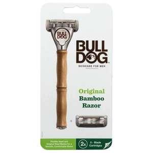 Rasoir Bulldog Skincare for Men - manche en bambou, avec 2 lames
