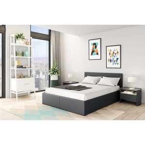 Lit coffre WILLOW - 140x190cm, sommier inclus avec tête de lit, 3 Coloris au choix