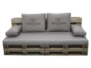 Banquette Clic Clac - Garnissage ouate 120g/m, effet palette en bois, L190cm x H85cm x P92cm