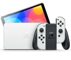 Console Nintendo Switch (OLED) avec station d'accueil et manettes Joy-Con blanches (+40€ sur le compte fidélité pour les adhérents)