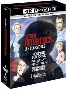 Coffret Blu-ray 4K UHD Alfred Hitchcock Les Classiques - Fenêtre sur Cour + Les Oiseaux + Psychose + Sueurs Froides