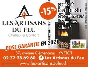 -15% sur les poêles à bois - Les Artisans Du Feu Yvetot (76)