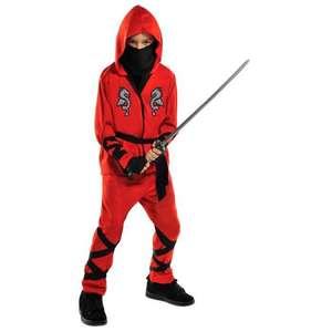 Déguisement enfant Ninja - haut, pantalon, Sash, masque et gants (4 à 8 ans)