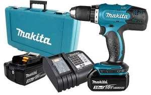 Perceuse visseuse sans fil 18V Makita DDF453SFE- 2 Batteries 3.0Ah, chargeur, mallette (+ 14.50€ en Rakuten Points)