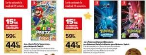 Mario Party Superstars ou Pokémon Diamant Étincelant ou Perle Étincelante sur Nintendo Switch
