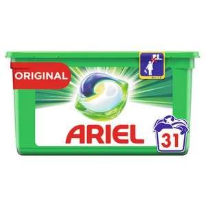 Boîte de lessive en capsules Ariel Pods 31 lavages - Différentes variétés (via 7,63€ sur Carte Fidélité)
