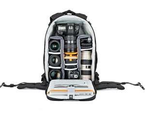 Sac à dos pour appareil photo Lowepro Flipside 400 AW II - motifs camo/mica