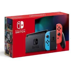 Console Nintendo Switch V2 (via 10€ sur la carte fidélité) - Joy-Con Bleu et Rouge