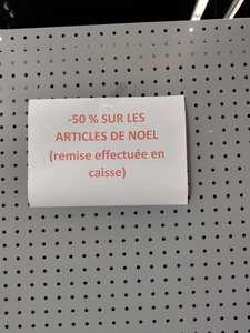 50% de réduction sur les articles de Noël - Tourville-la-Rivière (76)