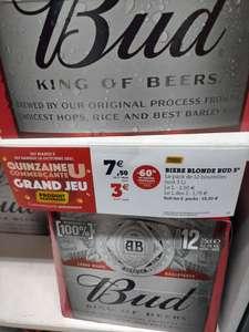 Lot de 2 Packs de 12 Bières Blondes Bud (24x 25cl)