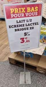 Lot de 8 Briques de lait demi-écrémé Lactel (8x 1L) - Grand Quevilly (76)