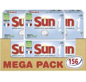 Lot de 156 (6x26) tablettes pour petit lave vaisselle Sun Tout en 1