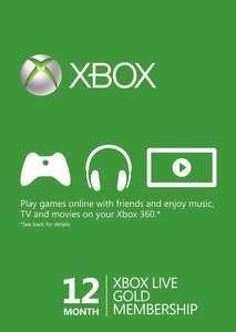 Abonnement de 12 mois au Xbox Live Gold (Dématérialisé - Turquie)