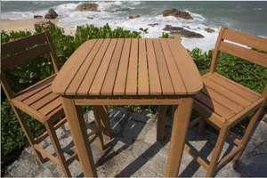 Ensemble de Jardin Type bar comprenant 1 Table 70x70cm et 2 Chaises en Acacia FSC
