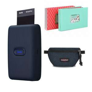 Imprimante portable Fujifilm Instax Mini Link Bleu avec Banane Eastpack et Album (camara.net)