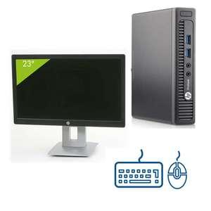 """Écran PC 23"""" AOC + Pc HP ProDesk 400 G1 USFF (i3-4160T, 8Go RAM, 240Go SSD) + Clavier/souris reconditionnés (Reconditionné - Grade A)"""