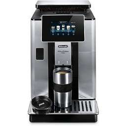 Machine à café Expresso avec broyeur Delonghi Primadonna Soul ECAM 610.74.MB - 1450W, Gris